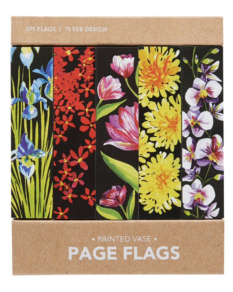 Page flags - Painted Vase