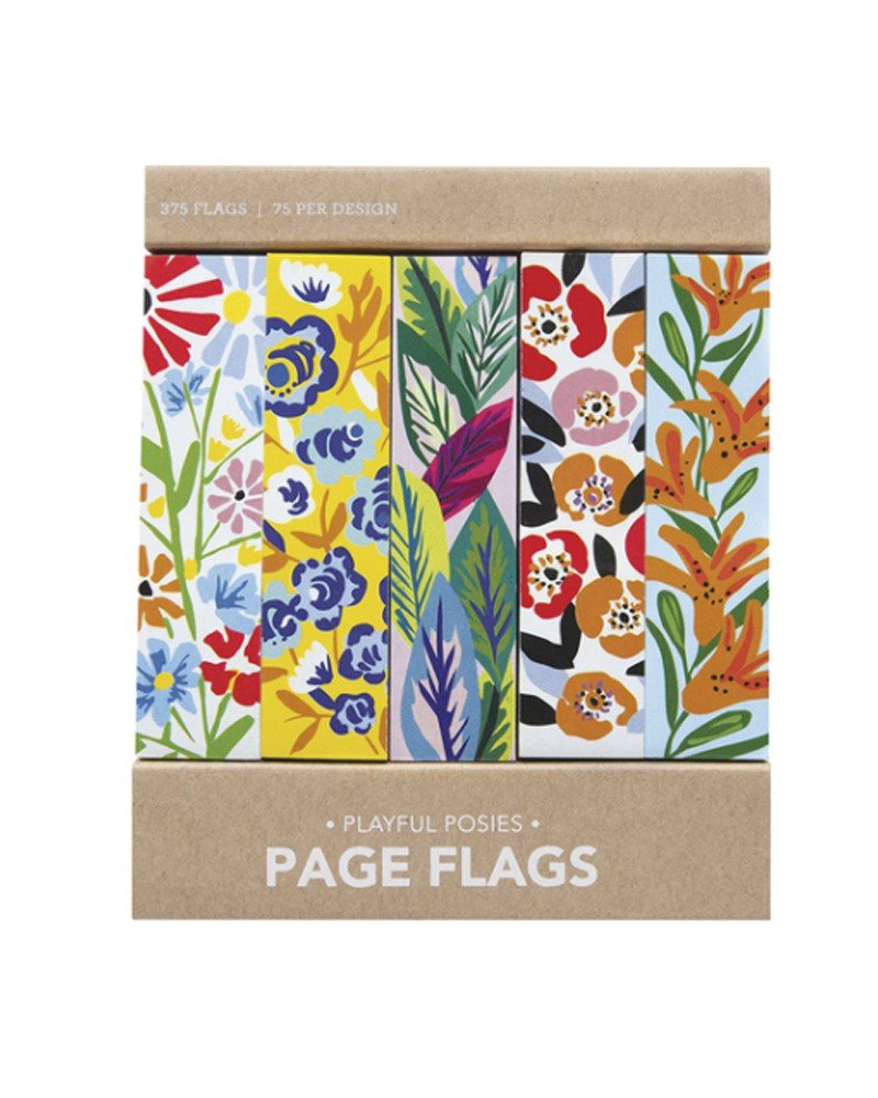 Page flags - Playful posies