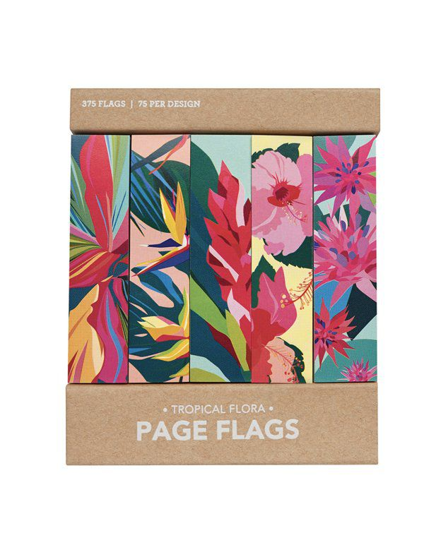 Page flags - Tropical Flora