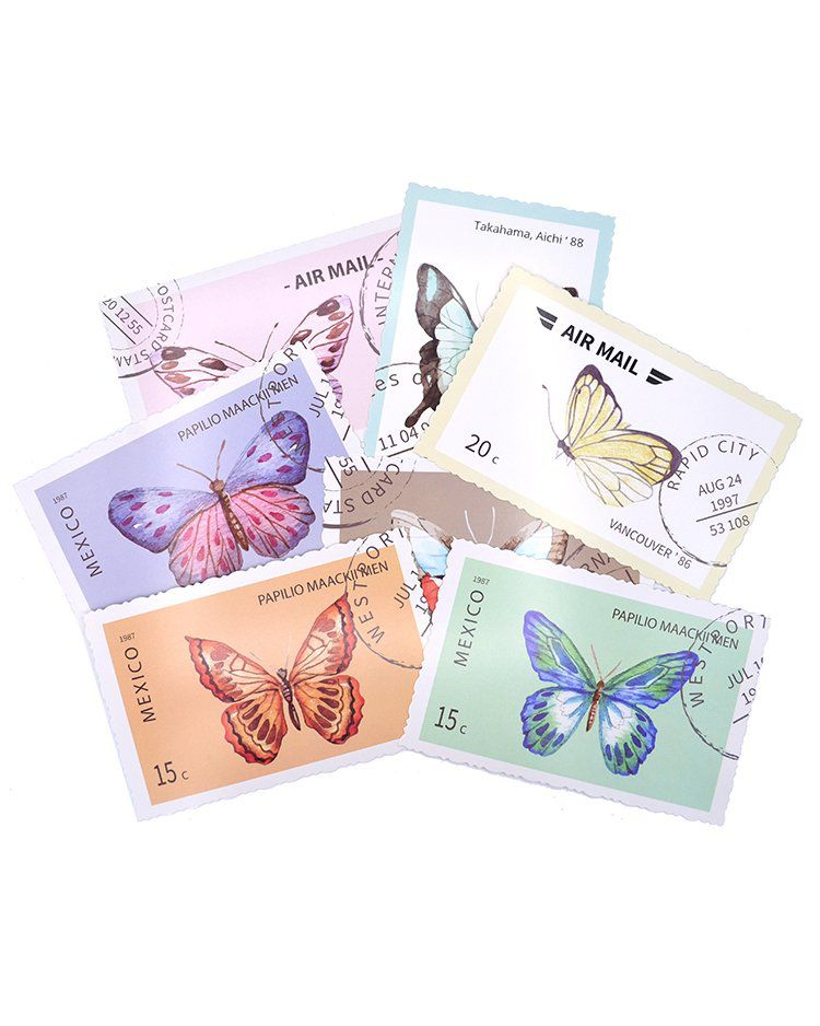 Postal - Butterfly Stamp