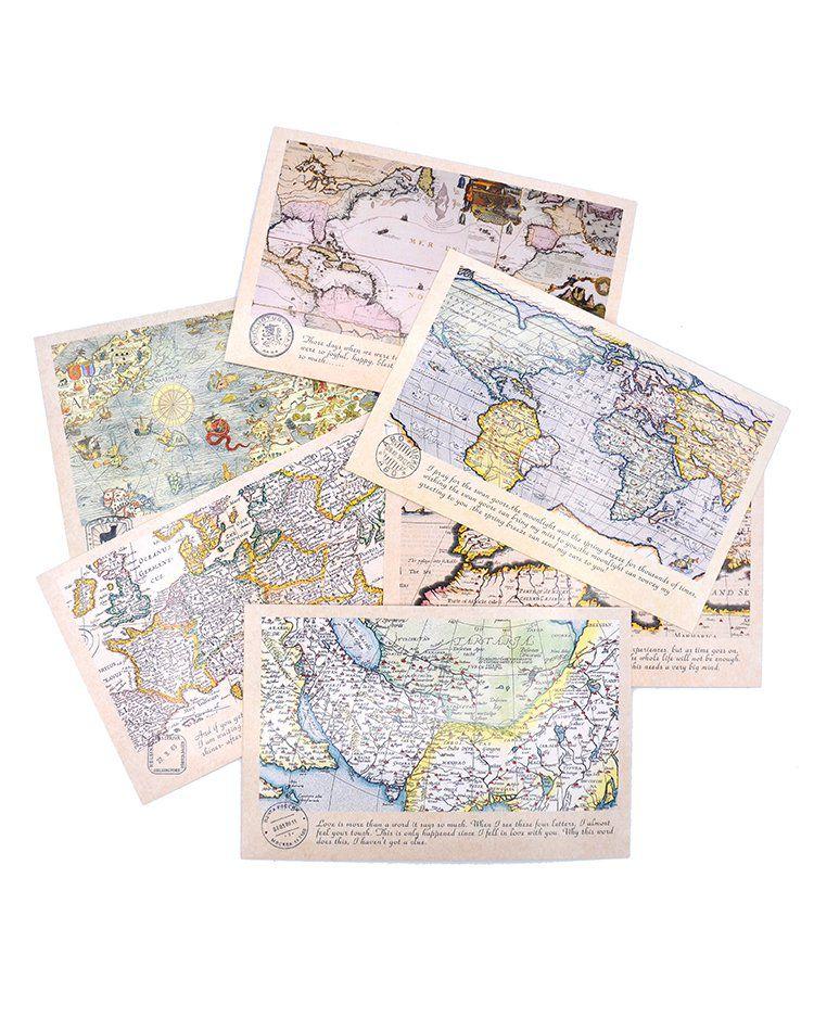 Postal - Mapas Antigos