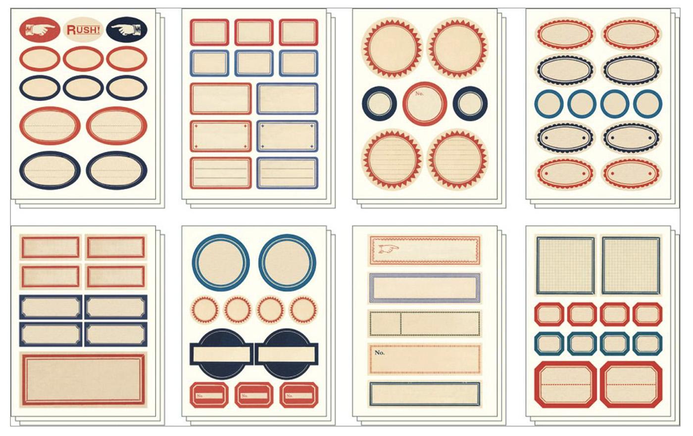 PRÉ-VENDA LINHA SPECIALS Conjunto de Adesivos Vintage Labels (LEIA A DESCRIÇÃO)