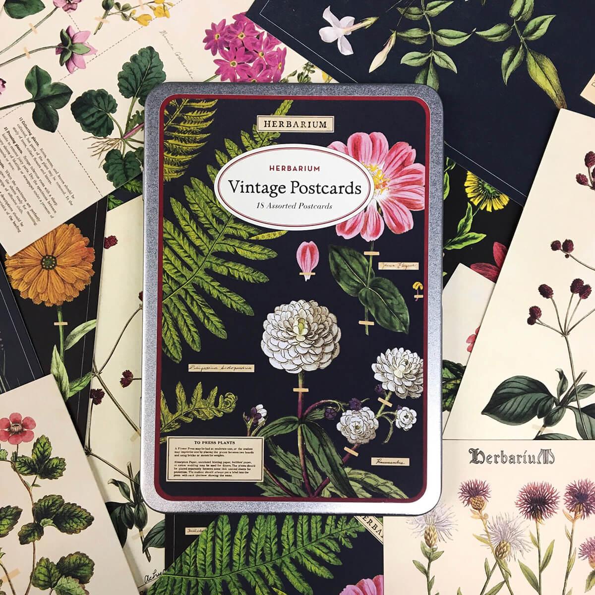 PRÉ-VENDA LINHA SPECIALS Postais Vintage Herbarium (LEIA A DESCRIÇÃO)