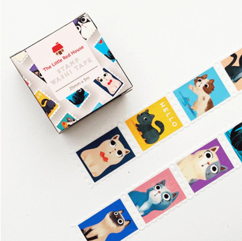 LINHA SPECIALS - Washi tape Cats stamp