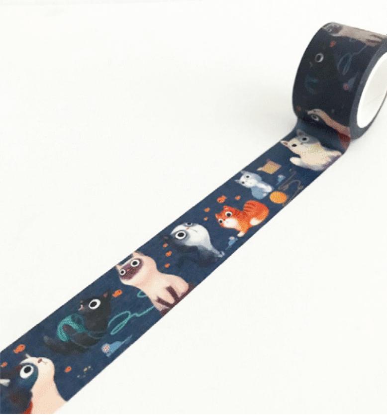 LINHA SPECIALS - Washi tape Meow
