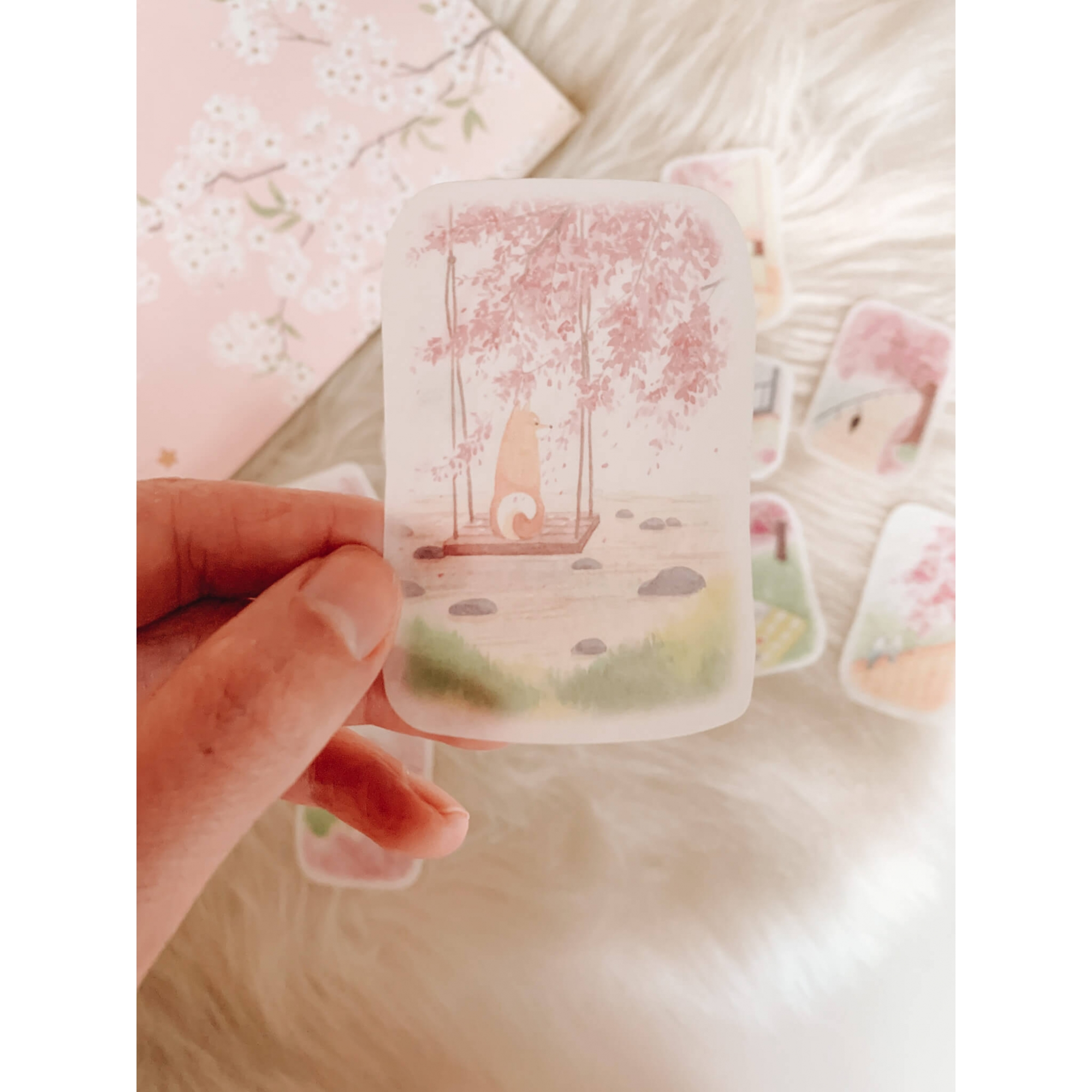 Saquinho de adesivos - Cerejeira