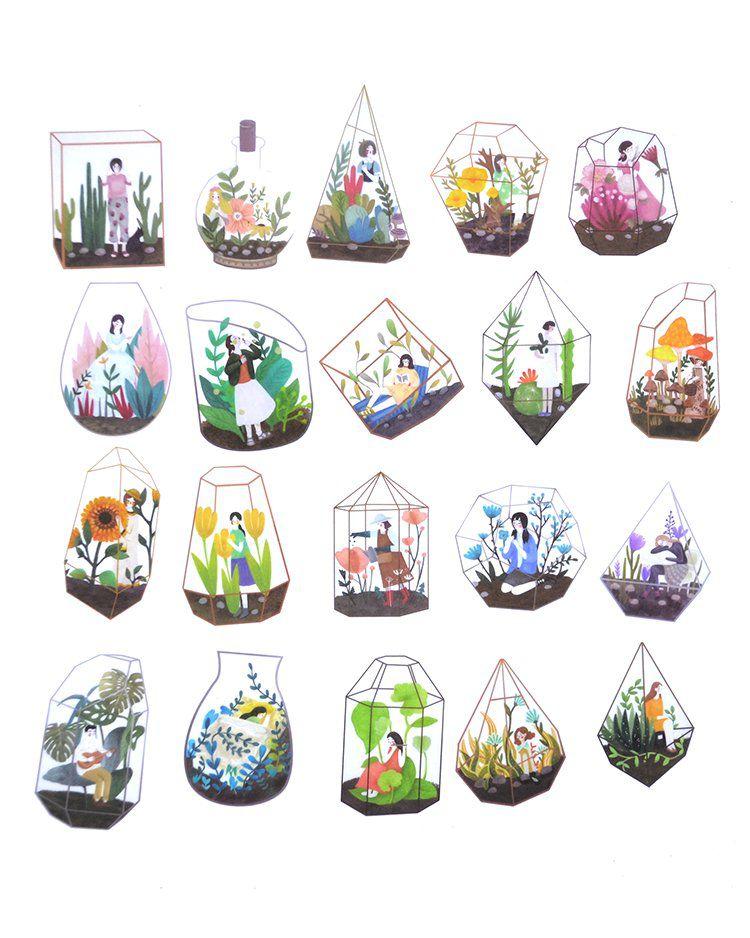 Saquinho de adesivos - Greenhouse