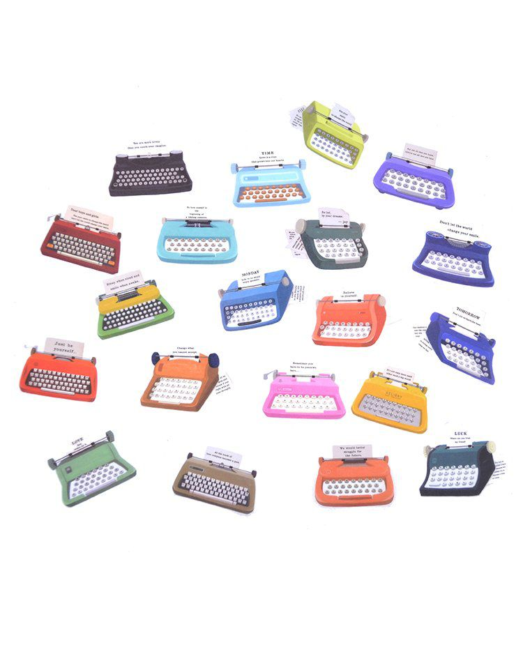 Saquinho de adesivos - Typerwriter