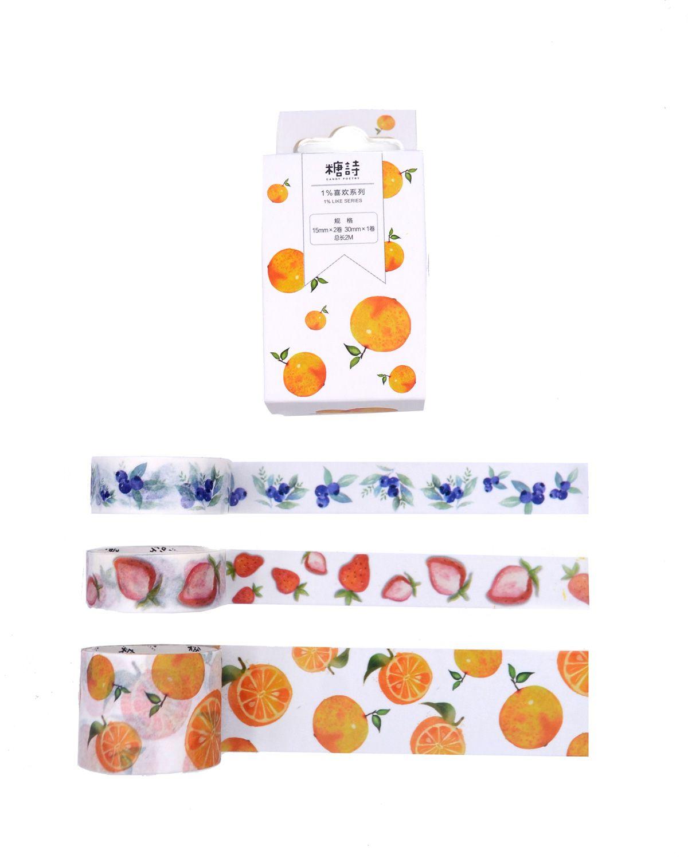 Trio de Washi tapes - Frutinhas