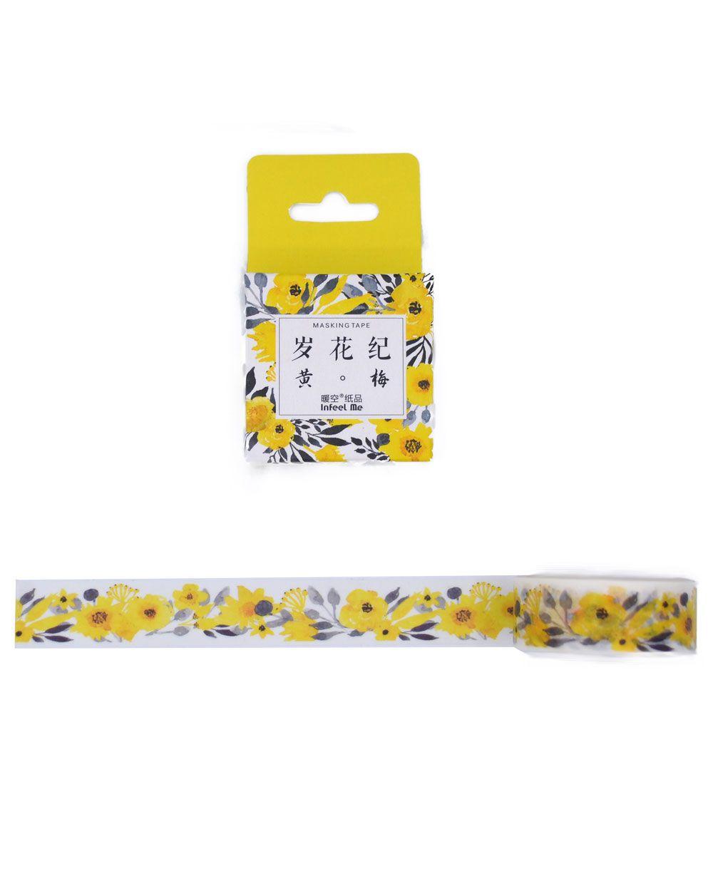 Washi tape Flores Amarelas