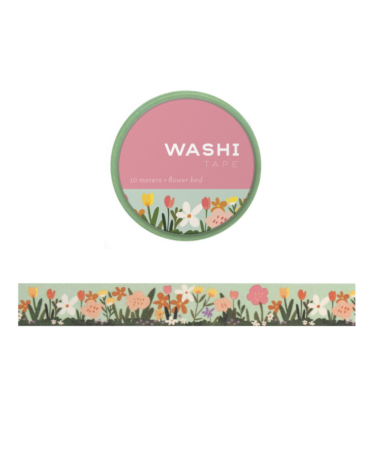 Washi tape - Flower Bed