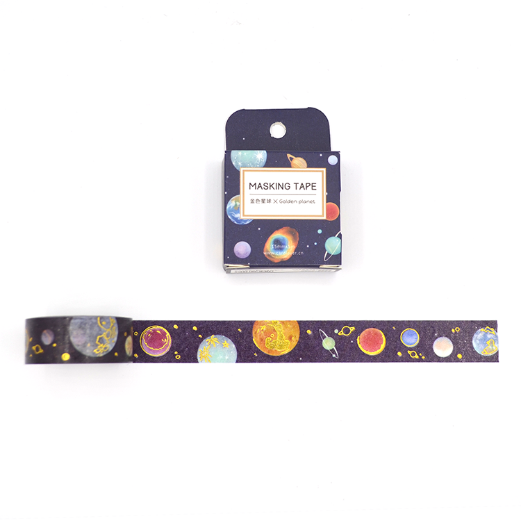 Washi tape - Golden planet