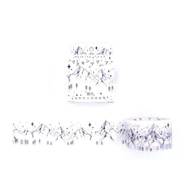 Washi tape larga -Silent Mountain