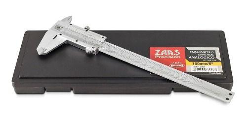 Paquímetro Universal Analógico 300mm Aço Inox Zaas