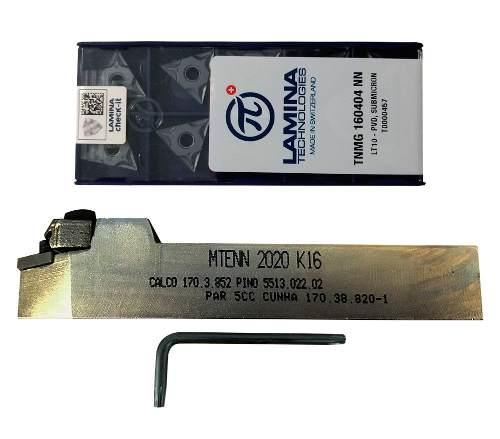 Kit Mtenn 2020 K16 + Pastilhas Tnmg 160404 Lamina