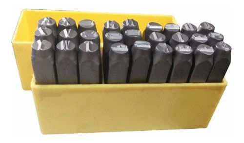 Marcador Punção Alfabeto 6mm - 27 Peças