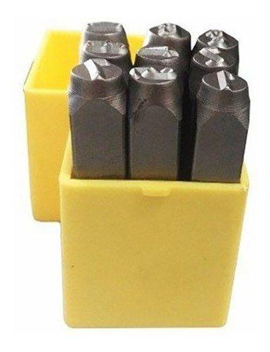 Marcador Punção Números 8mm - 9 Peças