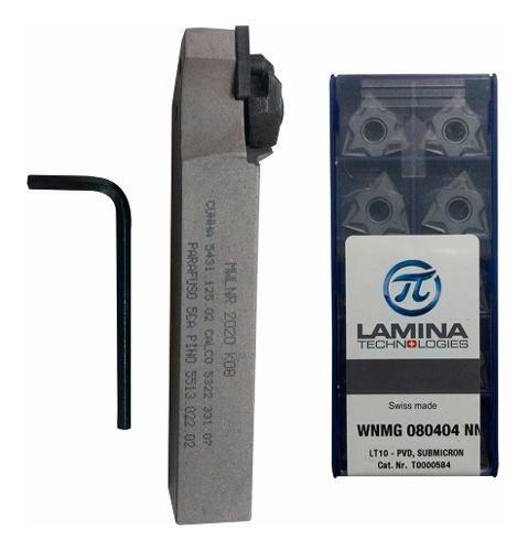 Kit Mwlnr 2020 K08 + Pastilha Wnmg 080404 Lamina