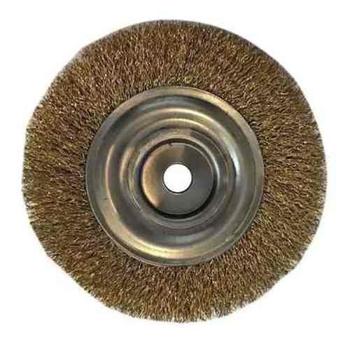 Escova Aço Circular 6x1x5/8 Latonada