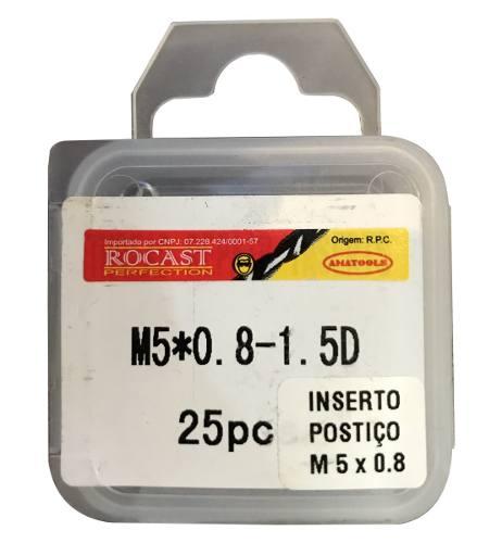 Helicoil Rosca Postiça - M5x0.8 - 1.5xd - 25 Peças