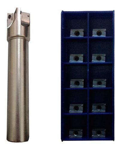 Kit Fresa 10mm 90° Aplx Ou Apkt 10 + Pastilhas Aplx 1003