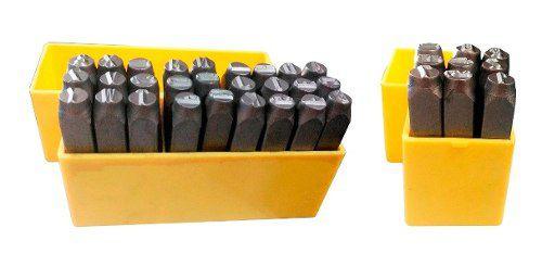 Kit Marcador Punção Alfabeto + Números 6mm