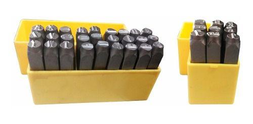 Kit Marcador Punção Alfabeto + Números 8mm