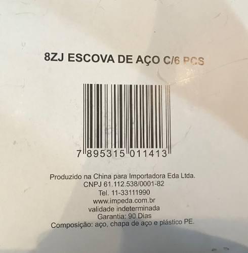 Jogo Kit Escova De Aço 6 Peças Eda 8zj
