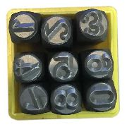 Marcador Punção Números 10mm - 9 Peças