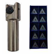 Kit Fresa 50mm 90° Tpkn Ou Tpkr 16 + Pastilhas Tpkr 1603