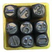 Marcador Punção Números 3mm - 9 Peças