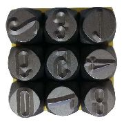 Kit Marcador Punção Alfabeto + Números 3mm