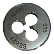 Cossinete Manual 3/16pol-1pol Bsw Aço Liga Rocast