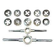 Kit Cossinetes 1/8 - 3/4 Bsw + Porta Cossinete 1pol E 1 1/2