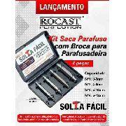 Kit Saca Parafuso C/ Broca P/ Parafusadeira 4pçs Rocast