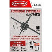 Furador Circular Ajustável 40-200mm 6pçs Rocast