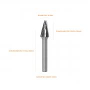 Lima Rotativa Cônica Para Alumínio 10mm