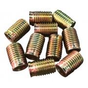 Tucho Bucha Rosca Postiça M8x1,25 / M10x1,25 15mm 10 Peças