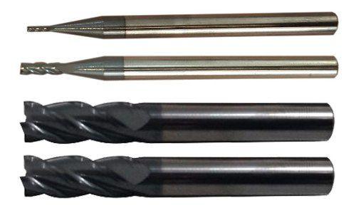 Fresa Metal Duro 4 Cortes 1 + 2 + 3 + 4mm