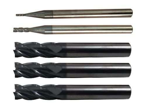Fresa Metal Duro 4 Cortes 1 + 2 + 3 + 4 + 5mm