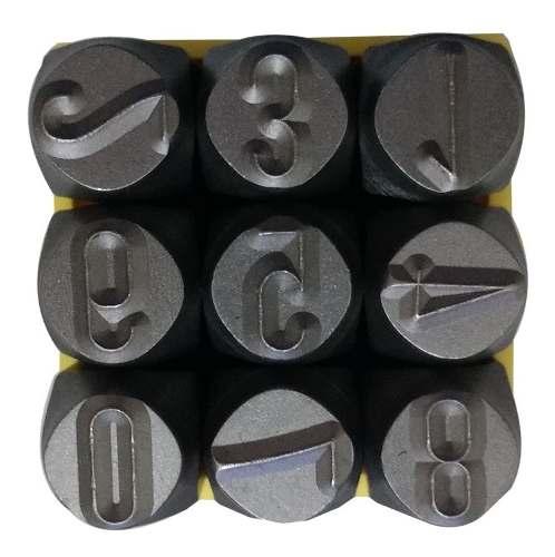 Kit Marcador Punção Alfabeto + Números 2mm