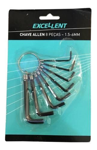 Jogo Chave Allen C/ 8pçs C/ Argola 1,5 A 6 Mm - Eda 5nr