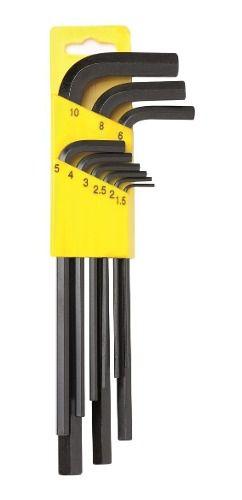 Kit Jogo De Chave Allen Longa C/ 9pçs 1,5 A 10mm - Eda 9gc