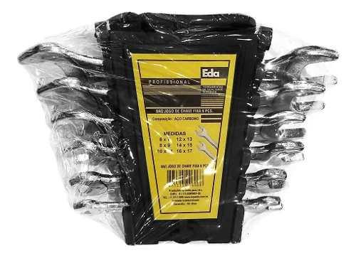 Jogo Chaves Fixa Kit 6pcs(6 A 17 Mm) C/ Bandeja - Eda 8aq