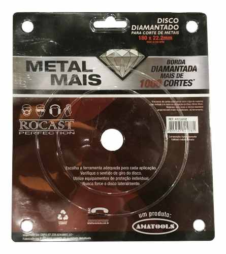 Disco Diamantado 7pol 180mm Rocast