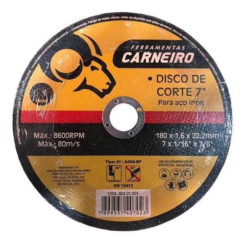Disco De Corte Aço Inox 180x1,6x22mm 7pol 5 Unidades (5070)