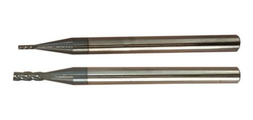Fresa Metal Duro 4 Cortes 1 + 2mm