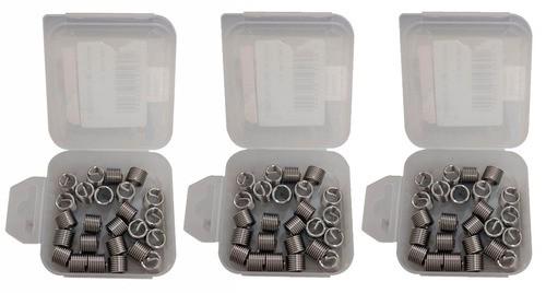Kit Helicoil Rosca Postiça M8x1.25 + M10x1.5 + M12x1.5