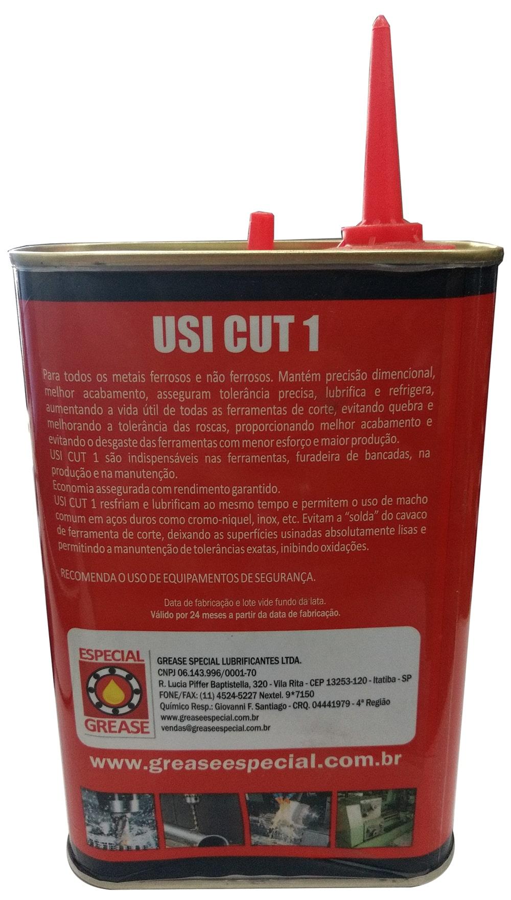 Kit Oleo Fluido De Corte Usicut  500ml - Óleo P/ Rosca 10un