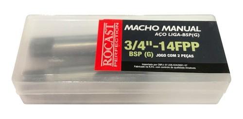 Macho Manual Aço Liga 3/4pol 14fpp Bsp 264,0098 Rocast